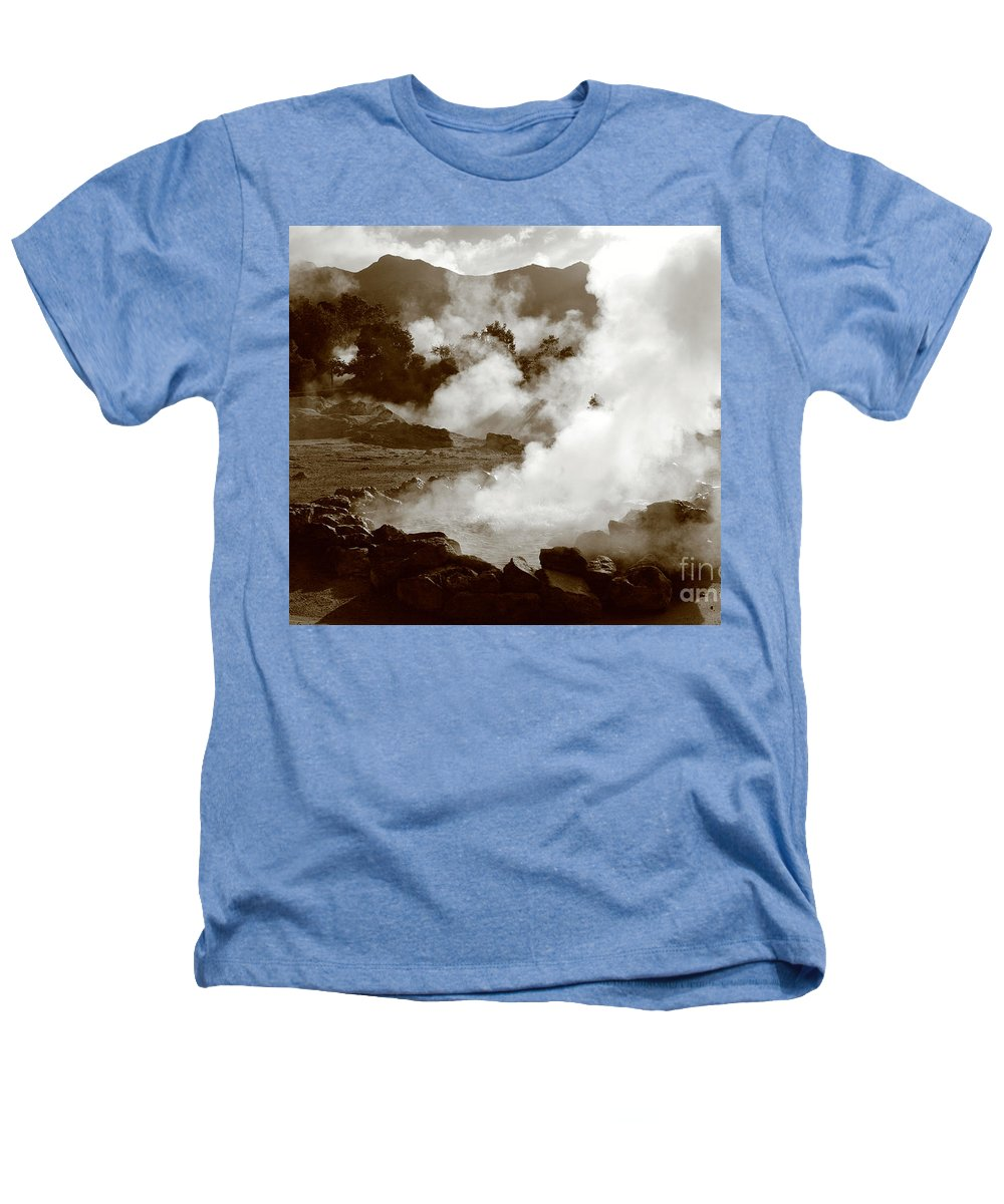 Azores Heathers T-Shirt featuring the photograph Volcanic Steam by Gaspar Avila