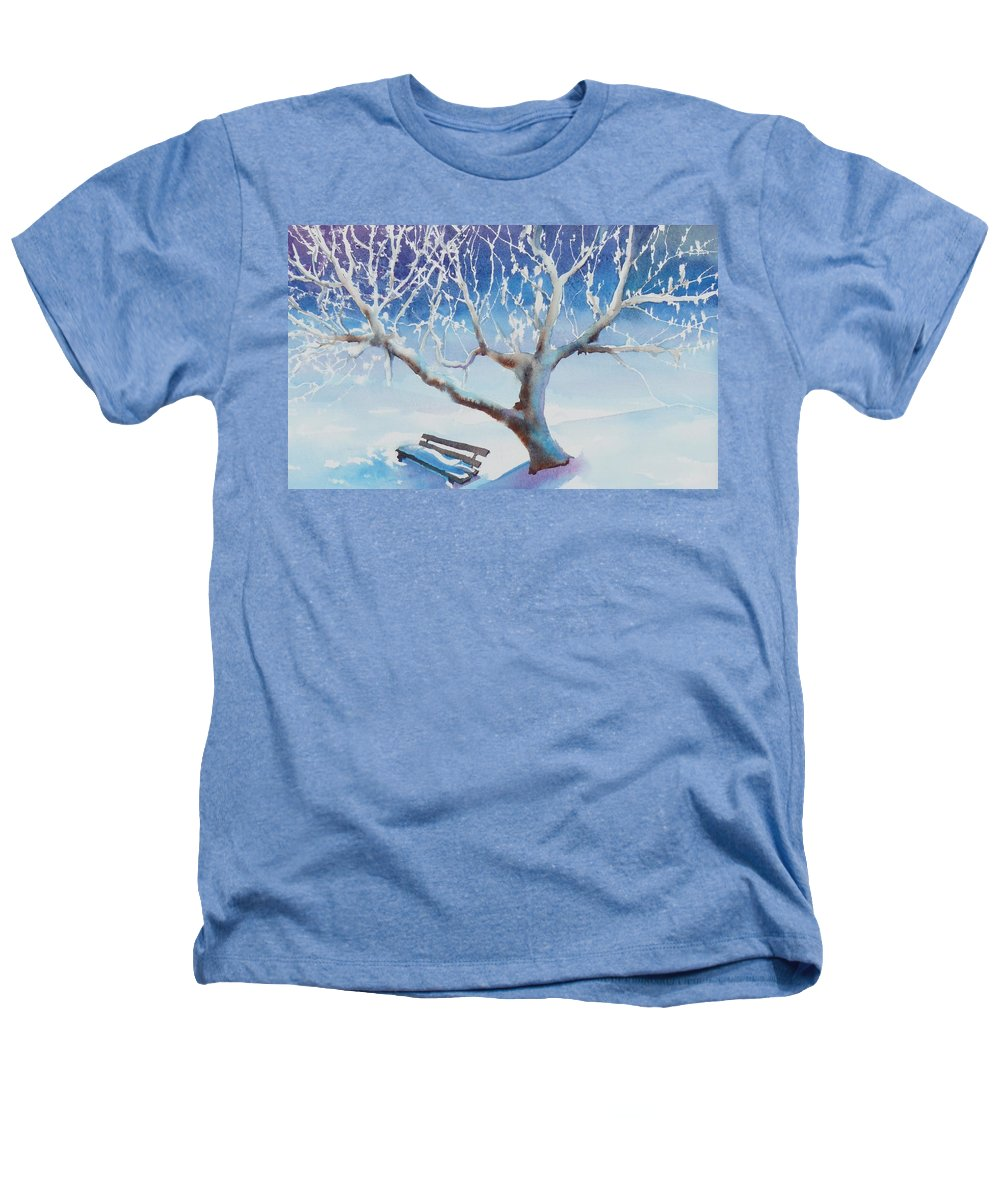 Snow Heathers T-Shirt featuring the painting Waiting For Spring by Ruth Kamenev
