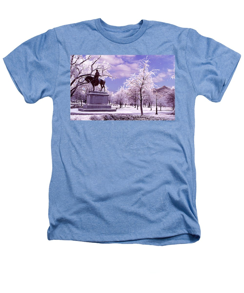 Landscape Heathers T-Shirt featuring the photograph Washington Square Park by Steve Karol