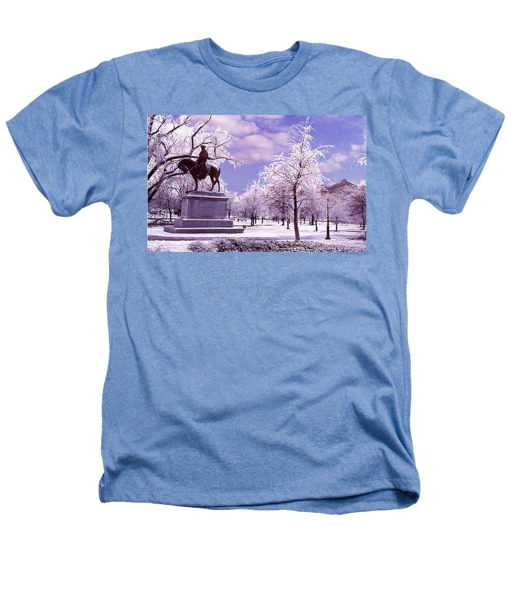 Landscape Heathers T-Shirt featuring the photograph Washington Square Park by Steve Karol