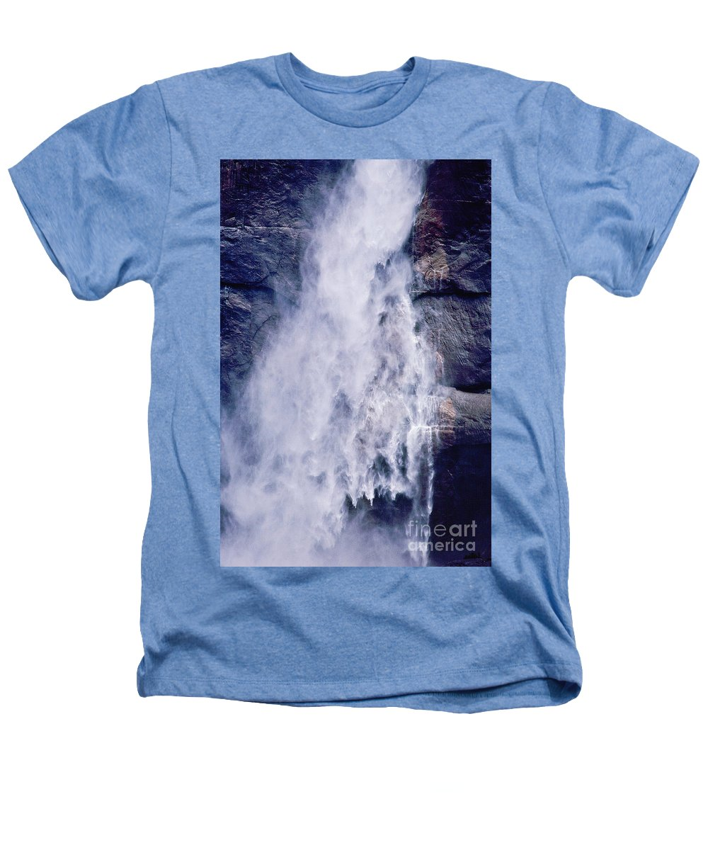 Waterfall Heathers T-Shirt featuring the photograph Water Drops by Kathy McClure