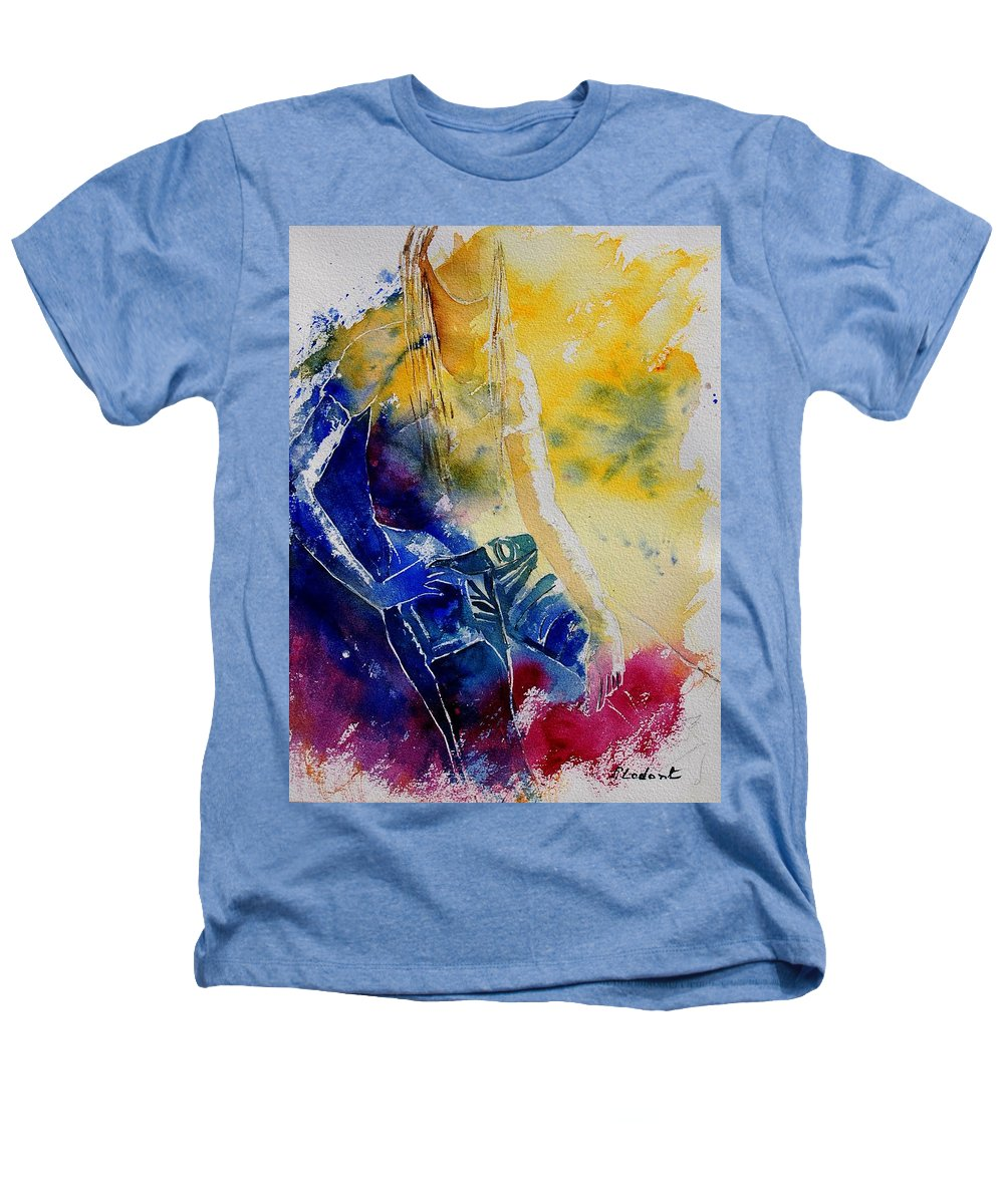 Girl Nude Heathers T-Shirt featuring the painting Watercolor 21546 by Pol Ledent