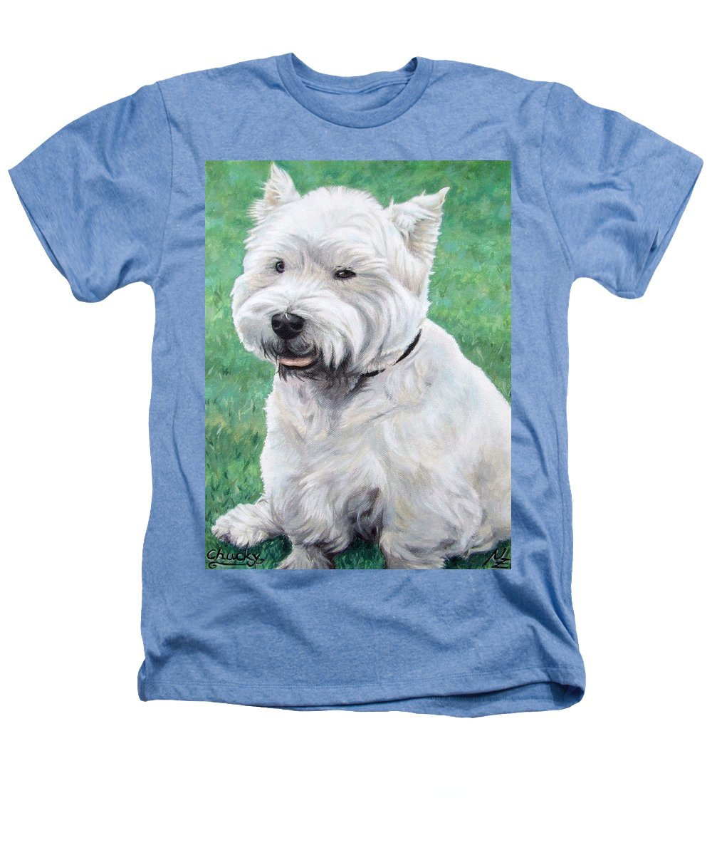 Dog Heathers T-Shirt featuring the painting West Highland Terrier by Nicole Zeug