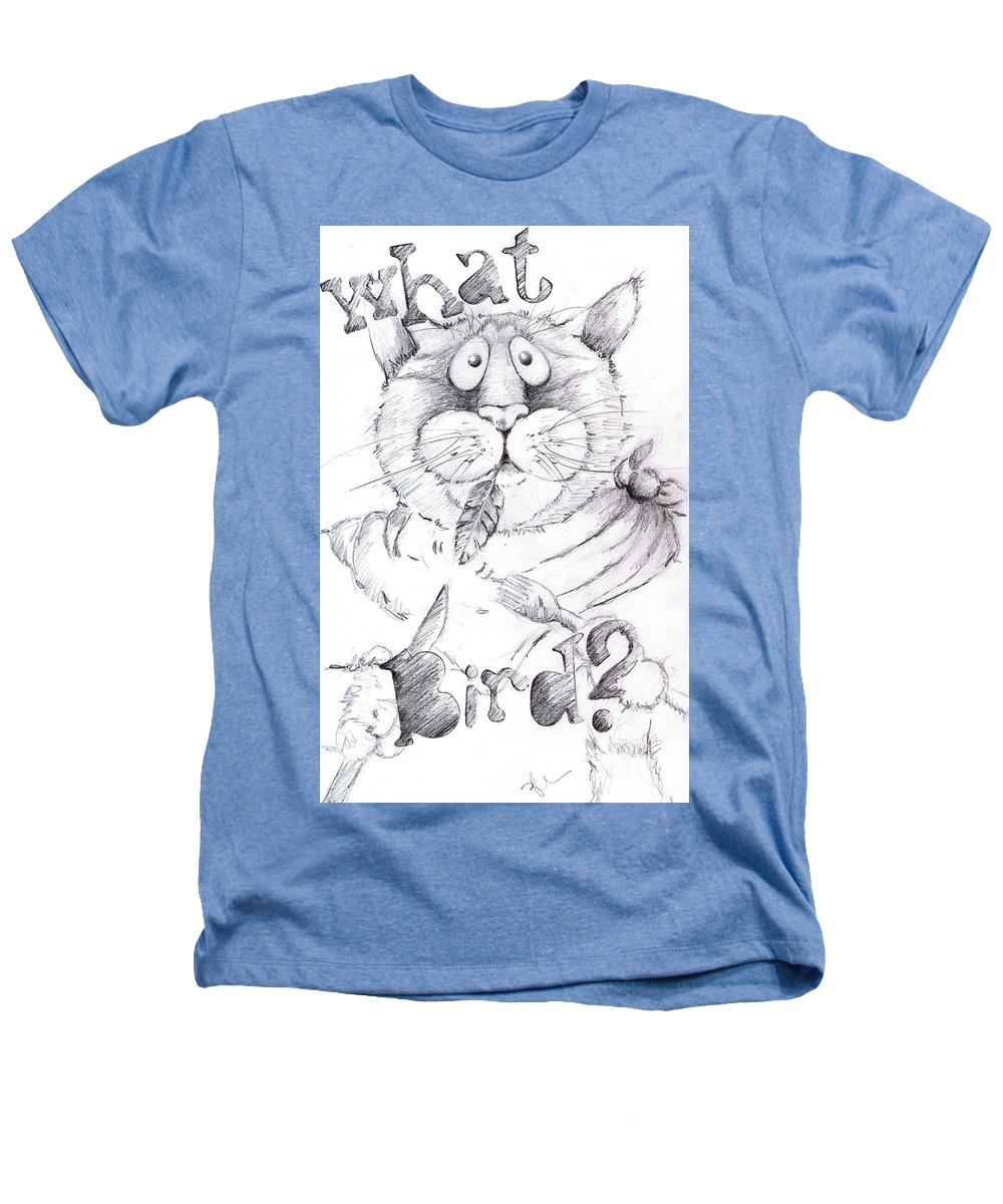 Charity Heathers T-Shirt featuring the drawing What Bird by Mary-Lee Sanders