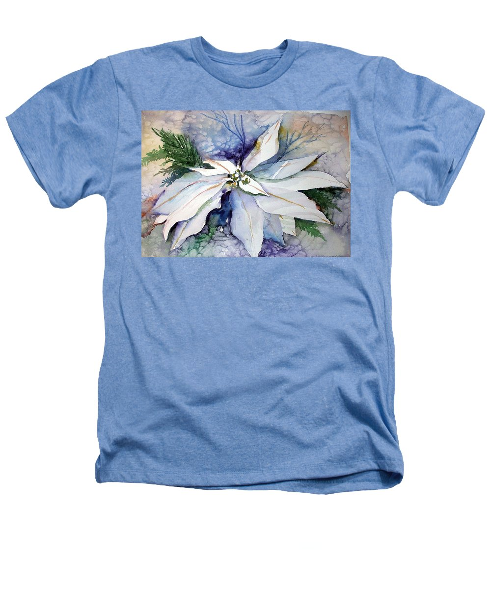 Floral Heathers T-Shirt featuring the painting White Poinsettia by Mindy Newman