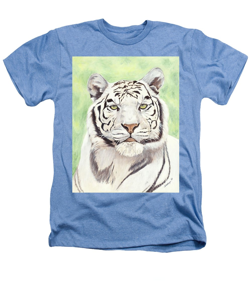 Tiger Heathers T-Shirt featuring the painting White Silence by Shawn Stallings