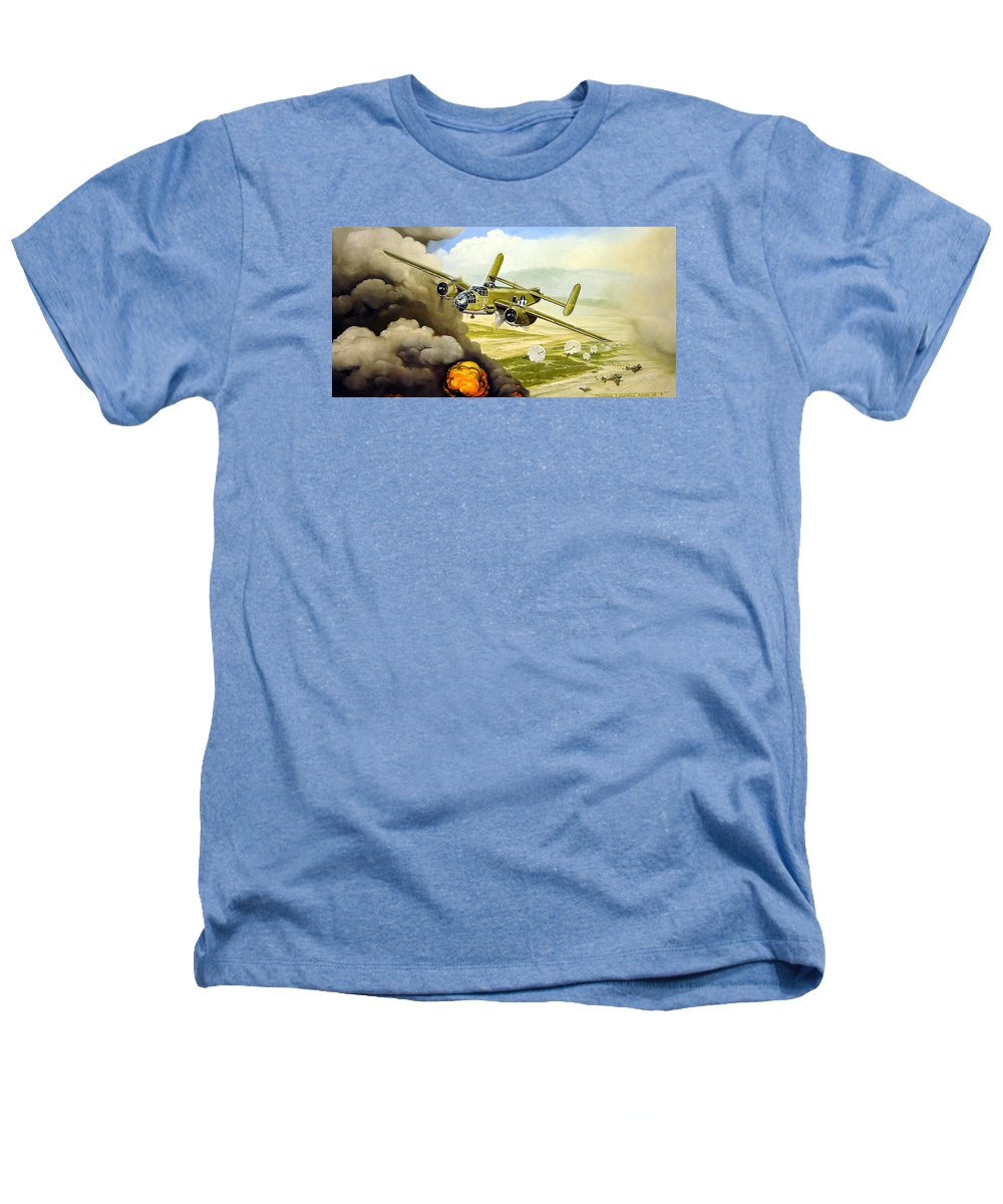 Aviation Heathers T-Shirt featuring the painting Wild Cargo by Marc Stewart