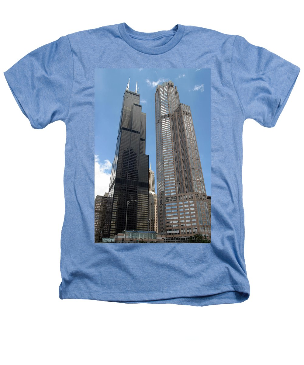 3scape Photos Heathers T-Shirt featuring the photograph Willis Tower Aka Sears Tower And 311 South Wacker Drive by Adam Romanowicz