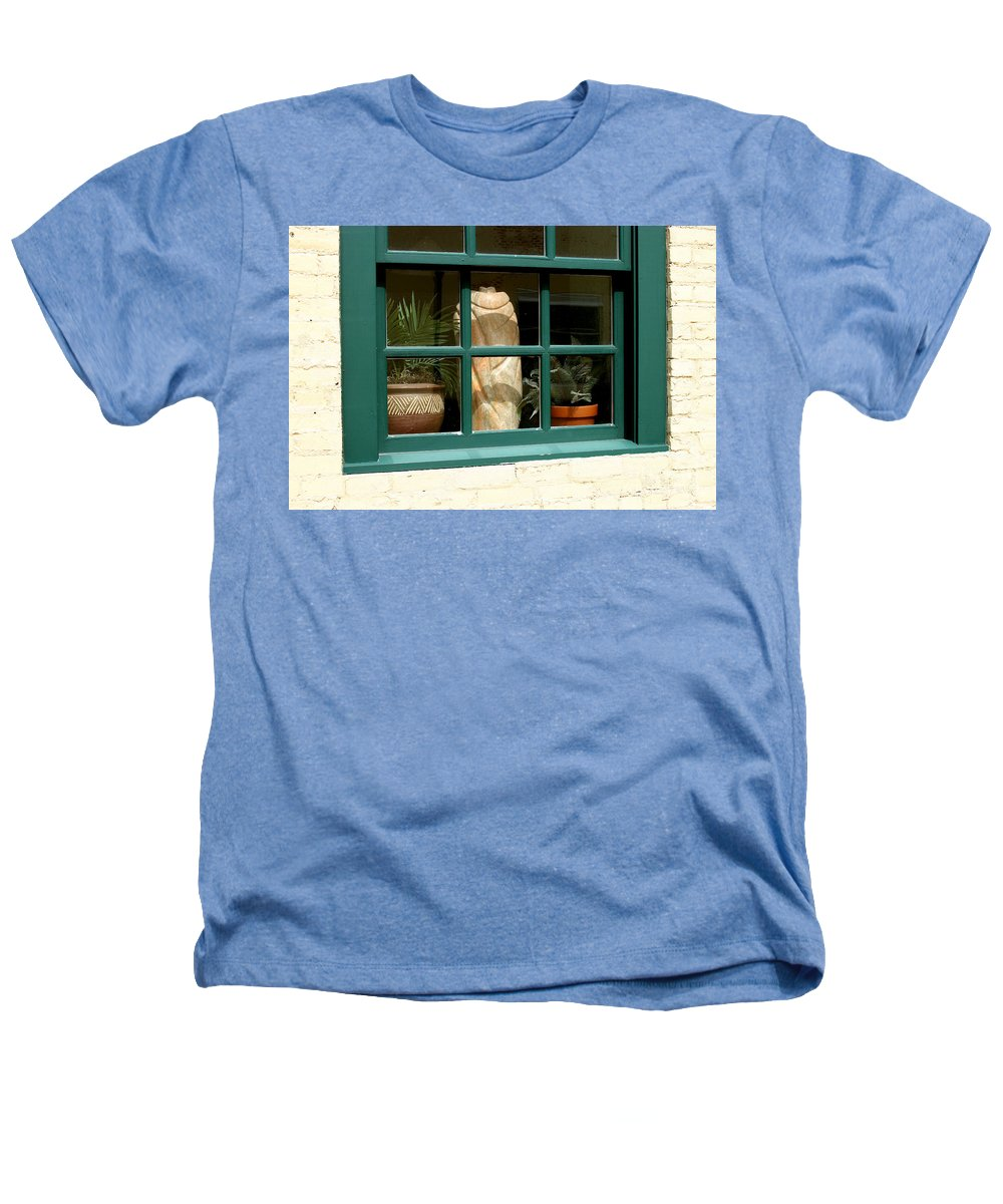 Fern Heathers T-Shirt featuring the photograph Window At Sanders Resturant by Steve Augustin