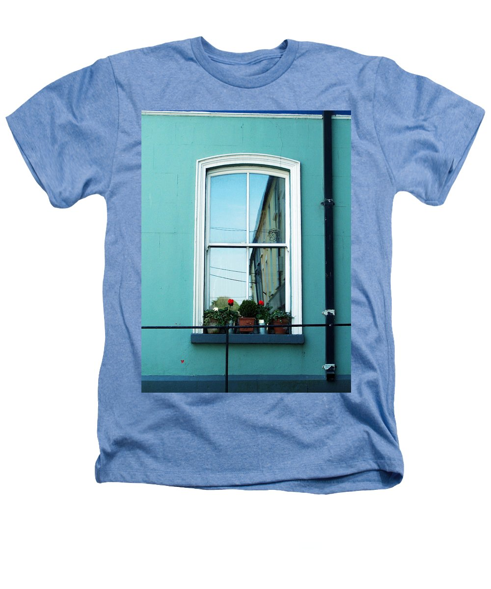 Irish Heathers T-Shirt featuring the photograph Window In Ennistymon Ireland by Teresa Mucha