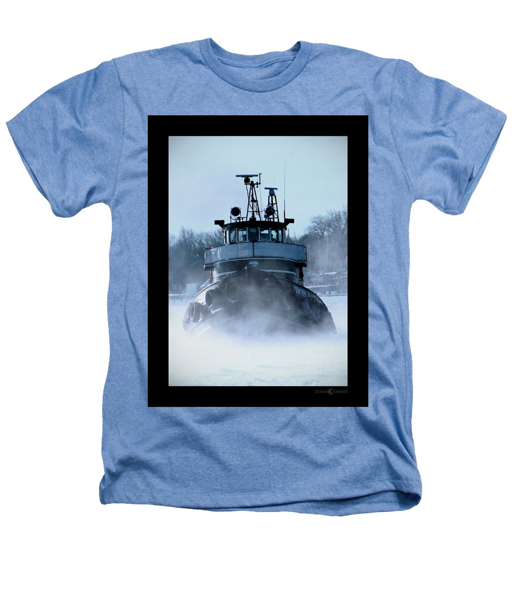 Tug Heathers T-Shirt featuring the photograph Winter Tug by Tim Nyberg