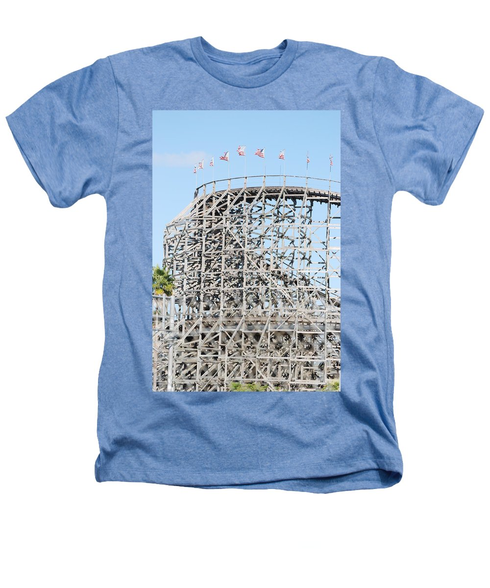Pop Art Heathers T-Shirt featuring the photograph Wooden Coaster by Rob Hans