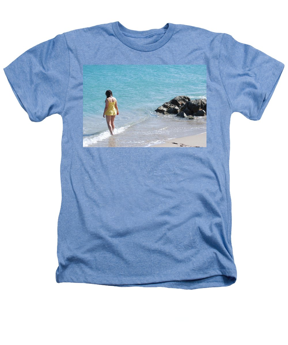 Sea Scape Heathers T-Shirt featuring the photograph Yellow And Blue by Rob Hans