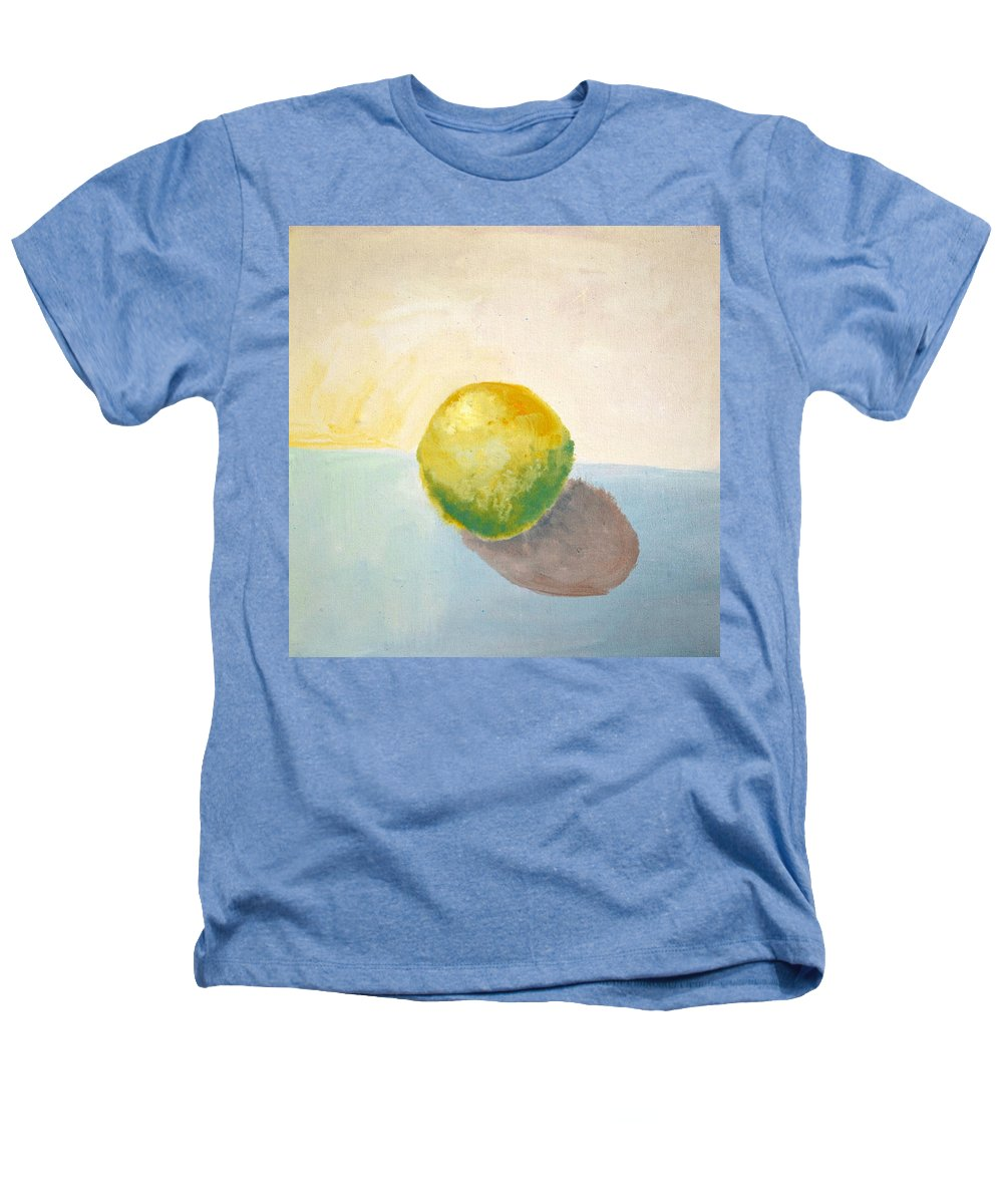 Lemon Heathers T-Shirt featuring the painting Yellow Lemon Still Life by Michelle Calkins