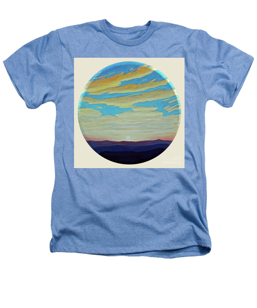 Landscape Heathers T-Shirt featuring the painting Yesterday by Brian Commerford