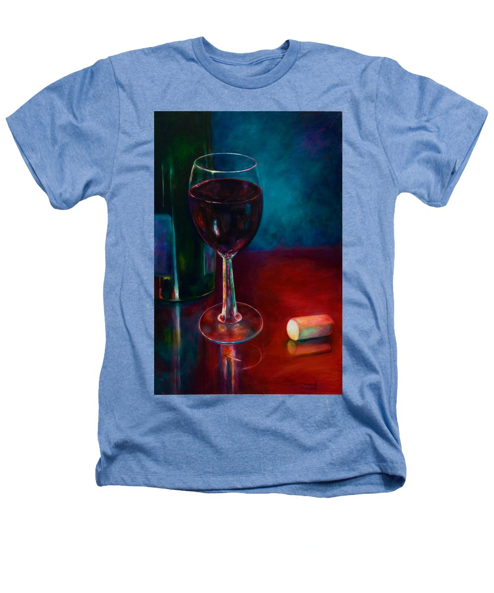 Wine Bottle Heathers T-Shirt featuring the painting Zinfandel by Shannon Grissom