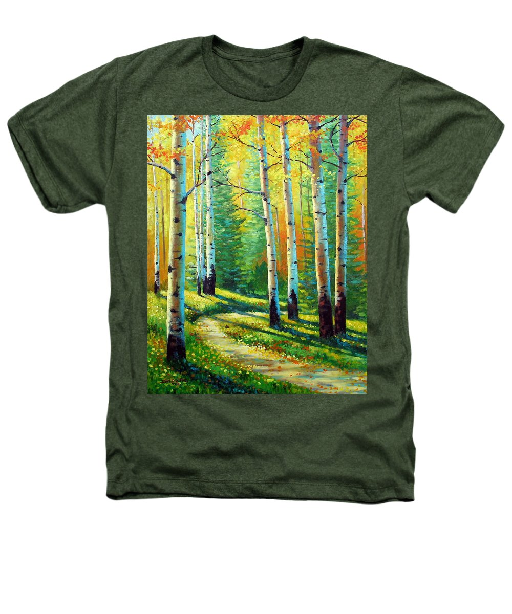 Landscape Heathers T-Shirt featuring the painting Colors Of The Season by David G Paul