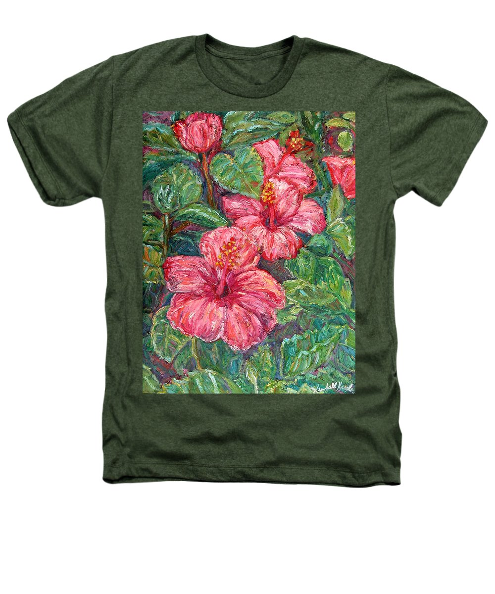 Hibiscus Heathers T-Shirt featuring the painting Hibiscus by Kendall Kessler