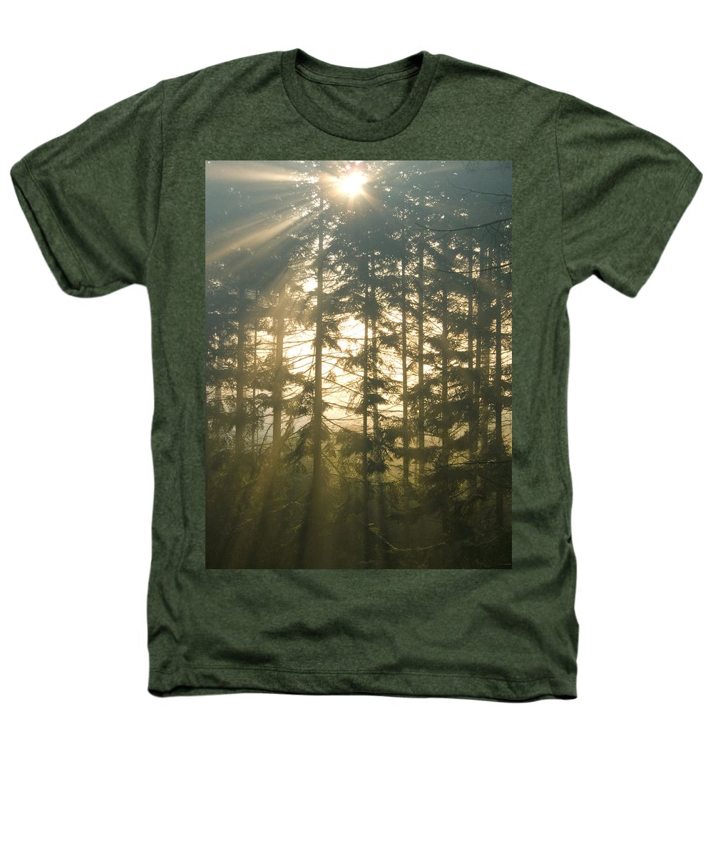 Nature Heathers T-Shirt featuring the photograph Light In The Forest by Daniel Csoka