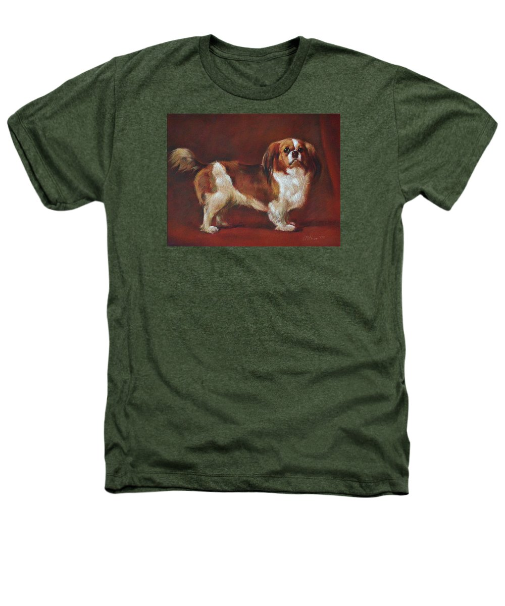 Pastel Heathers T-Shirt featuring the painting A King Charles Spaniel by Iliyan Bozhanov