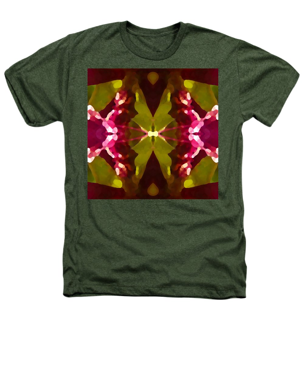 Contemporary Heathers T-Shirt featuring the painting Abstract Crystal Butterfly by Amy Vangsgard