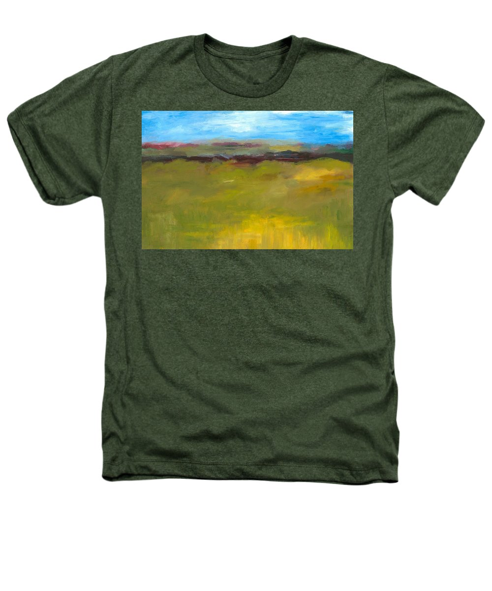 Abstract Expressionism Heathers T-Shirt featuring the painting Abstract Landscape - The Highway Series by Michelle Calkins