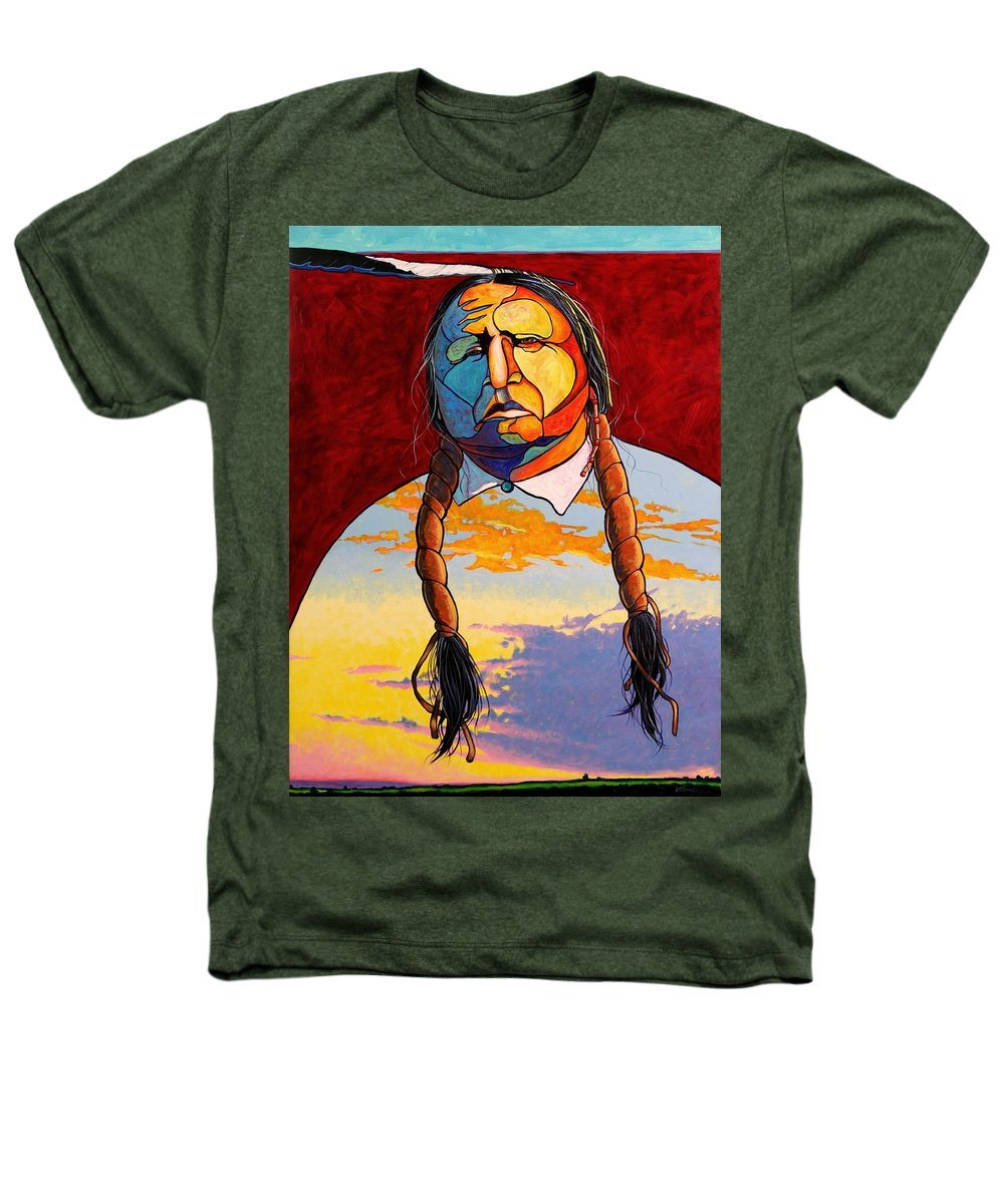 Spiritual Heathers T-Shirt featuring the painting All That I Am by Joe Triano