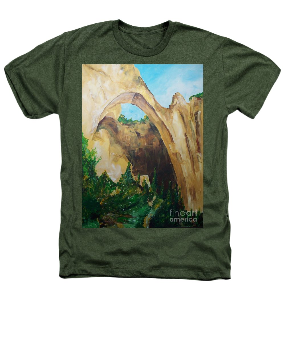 Floral Heathers T-Shirt featuring the painting Arch by Eric Schiabor