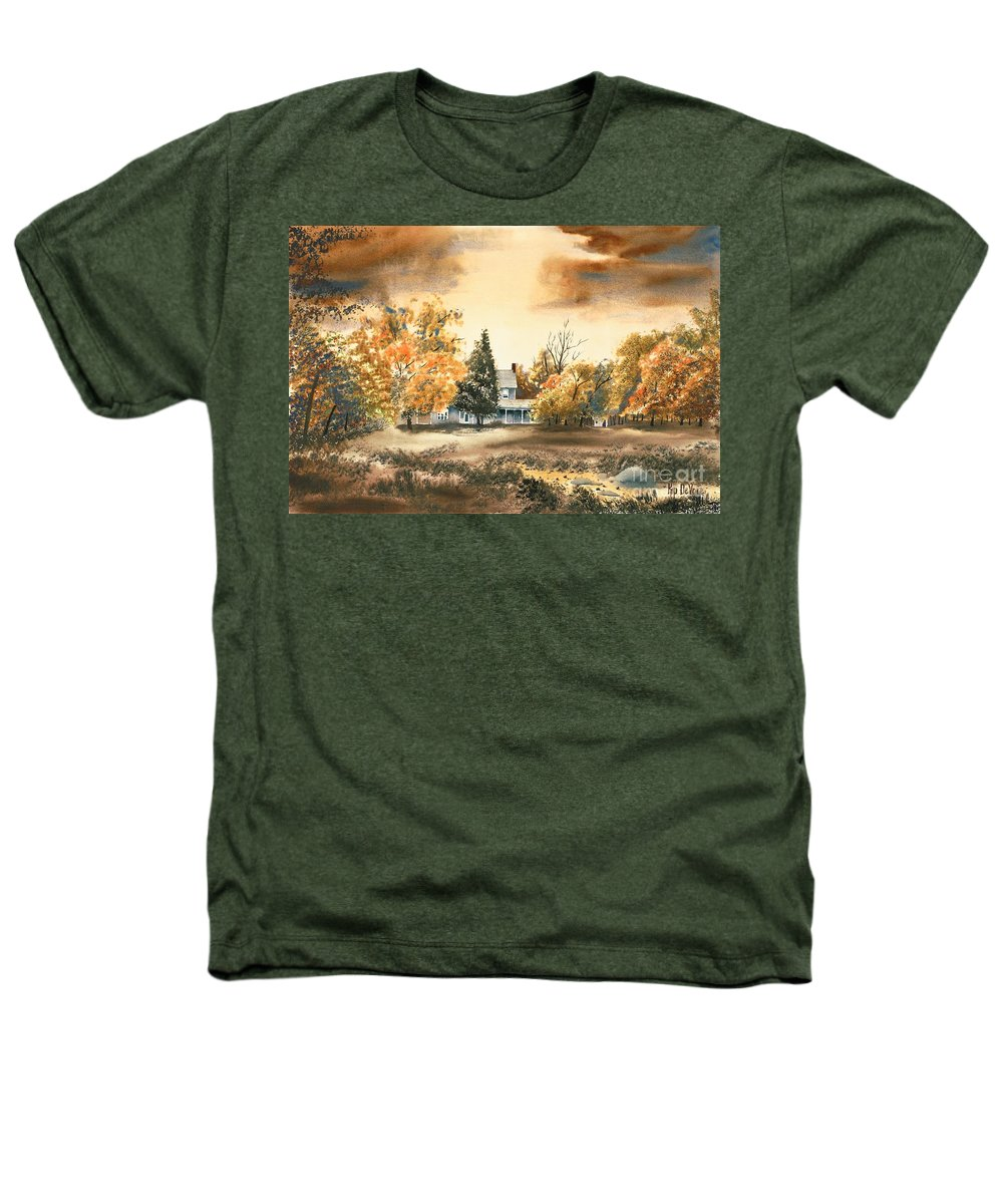 Autumn Sky No W103 Heathers T-Shirt featuring the painting Autumn Sky No W103 by Kip DeVore
