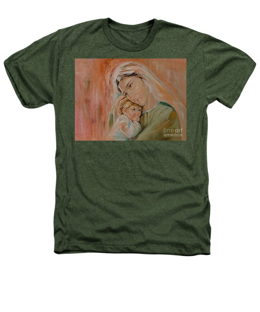 Classic Art Heathers T-Shirt featuring the painting Ave Maria by Silvana Abel