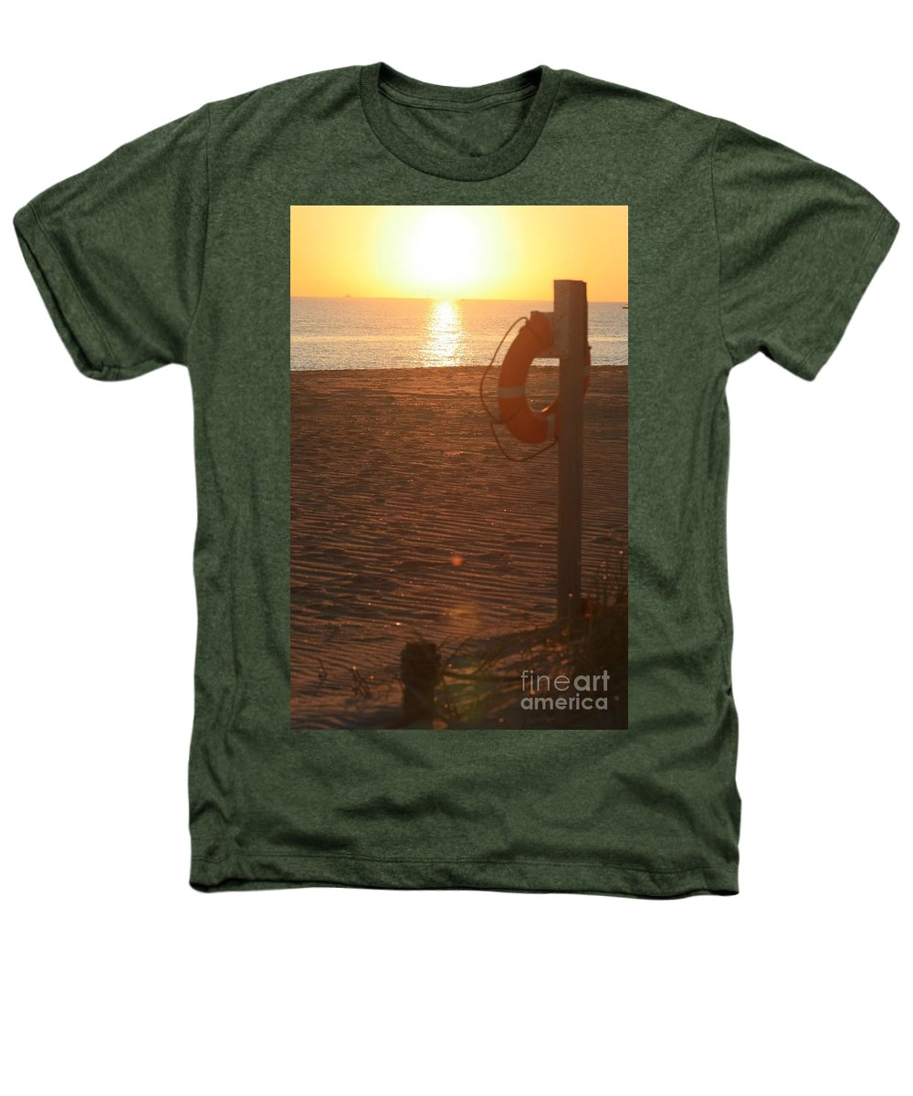 Beach Heathers T-Shirt featuring the photograph Beach At Sunset by Nadine Rippelmeyer