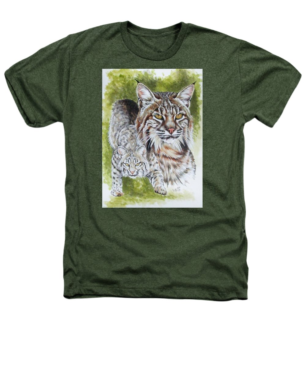 Small Cat Heathers T-Shirt featuring the mixed media Brassy by Barbara Keith