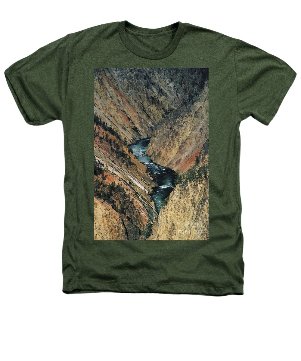 Yellowstone Heathers T-Shirt featuring the photograph Canyon Jewel by Kathy McClure