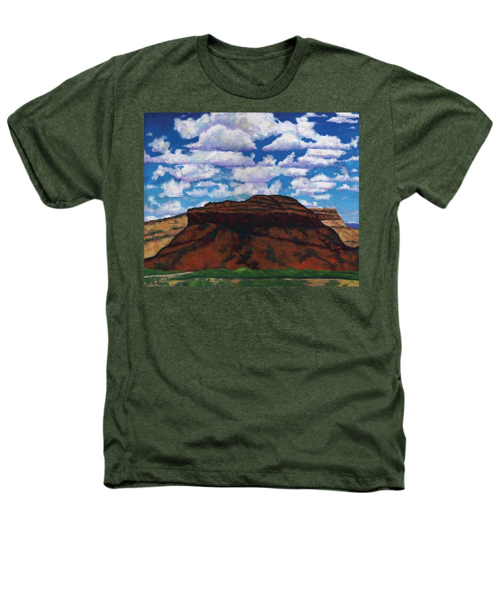 Lanscape Heathers T-Shirt featuring the painting Clouds Over Red Mesa by Joe Triano