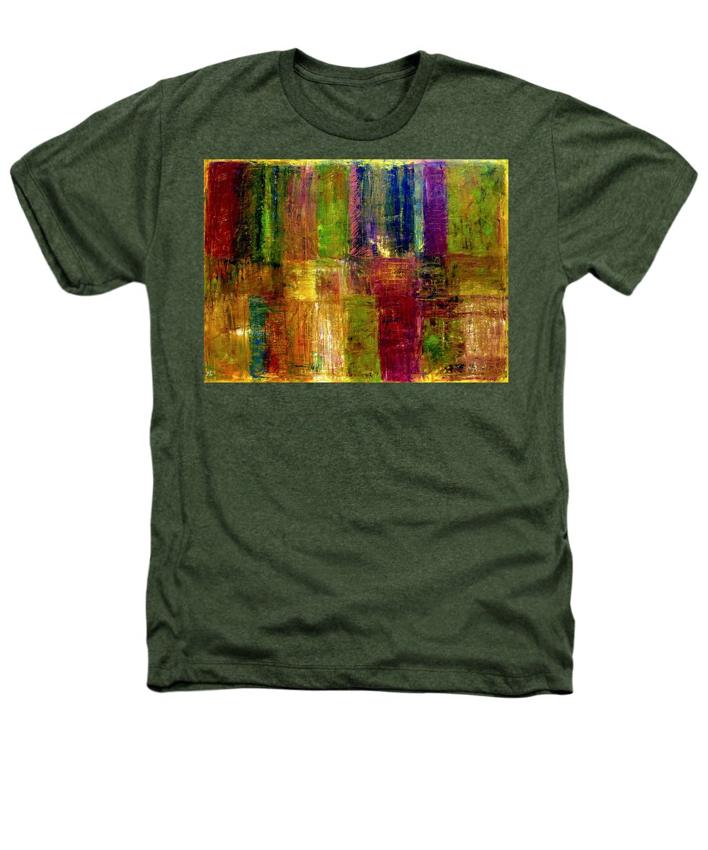 Abstract Heathers T-Shirt featuring the painting Color Panel Abstract by Michelle Calkins