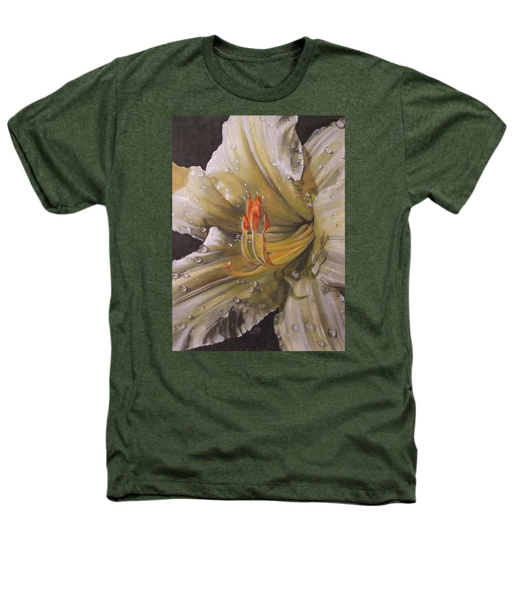 Daylily Heathers T-Shirt featuring the painting Diamonds by Barbara Keith