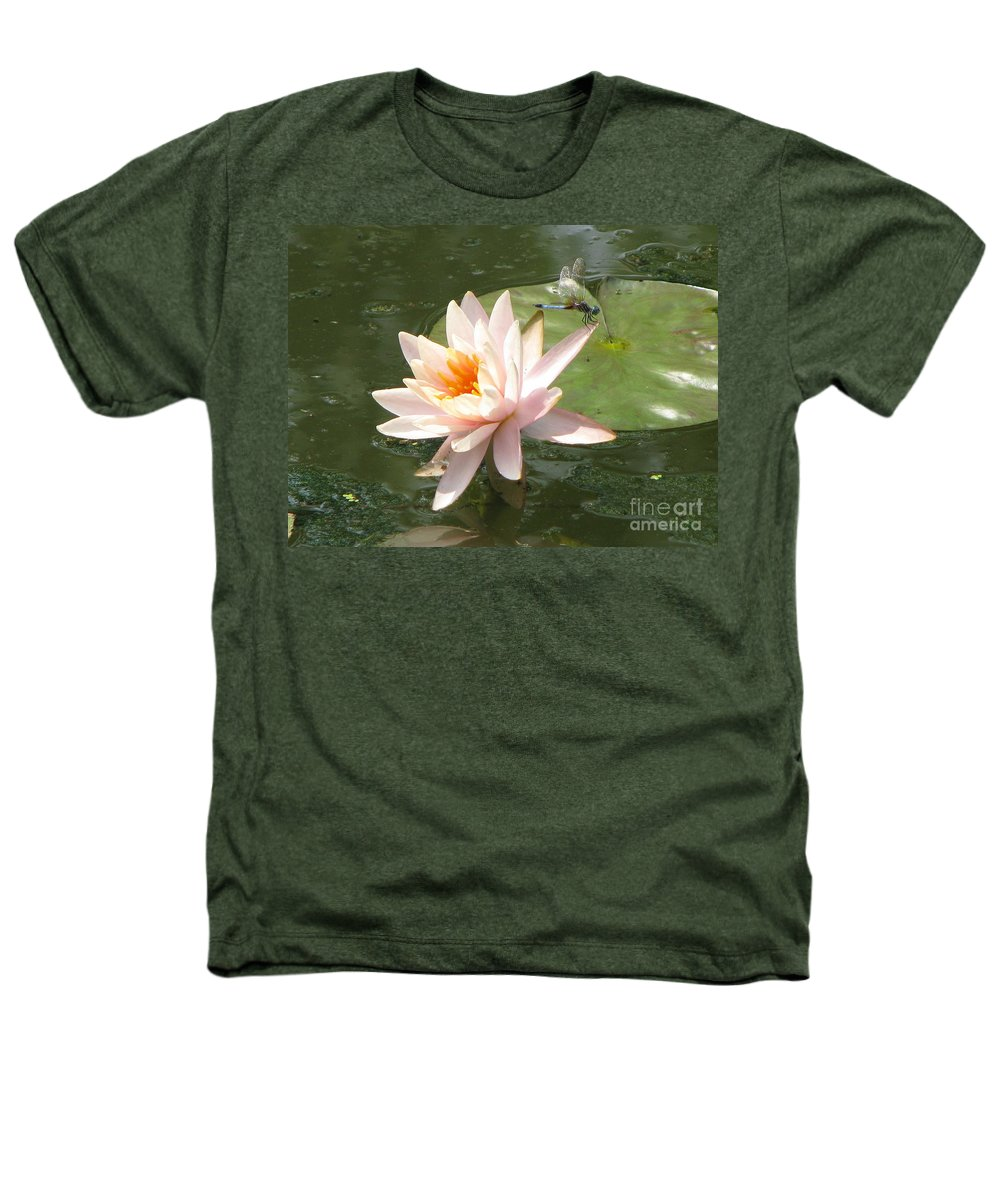 Dragon Fly Heathers T-Shirt featuring the photograph Dragonfly Landing by Amanda Barcon