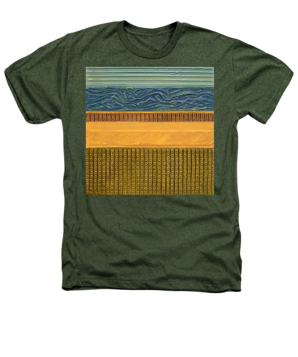 Abstract Heathers T-Shirt featuring the painting Earth Layers Abstract L by Michelle Calkins