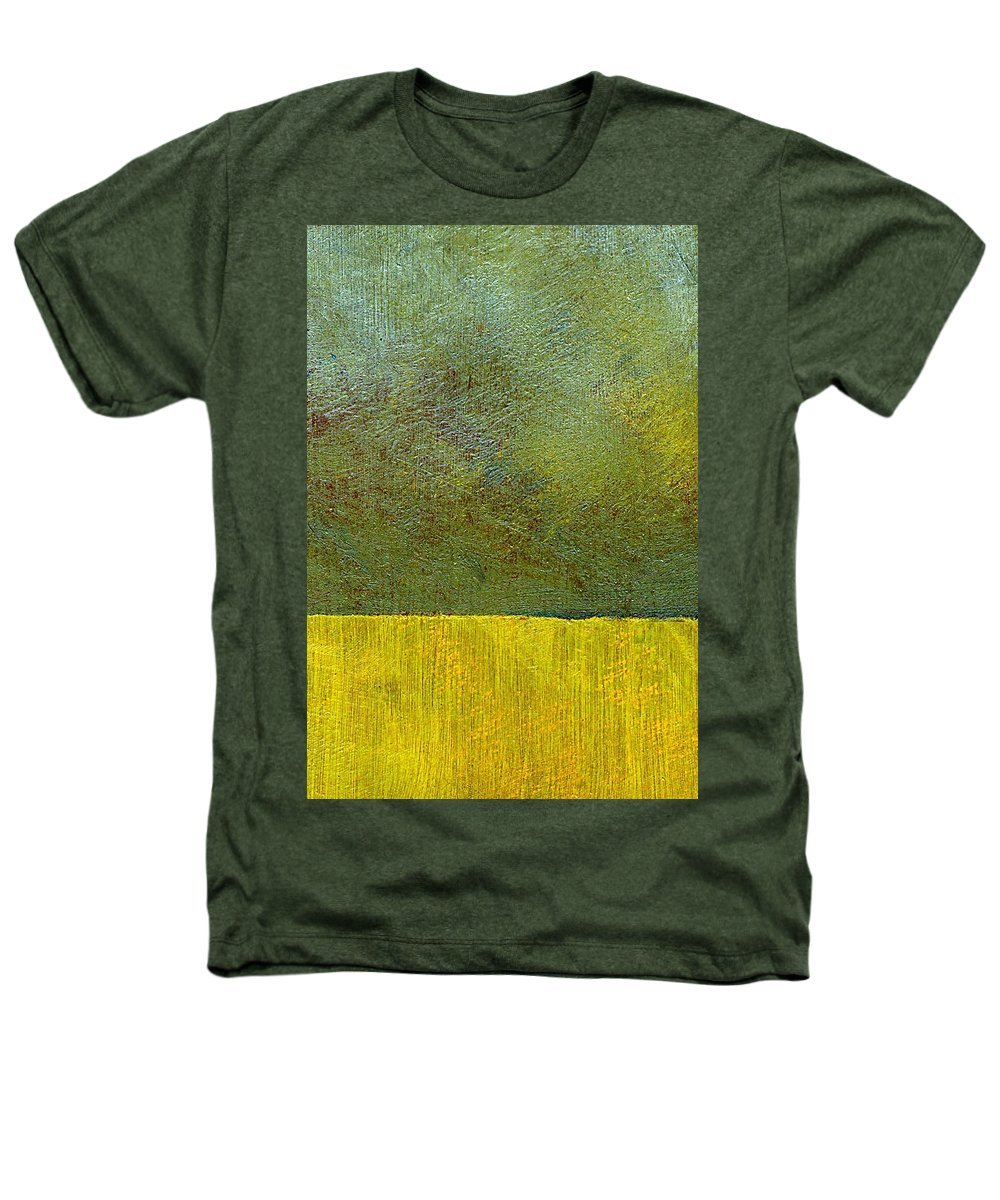 Abstract Landscape Heathers T-Shirt featuring the painting Earth Study Two by Michelle Calkins