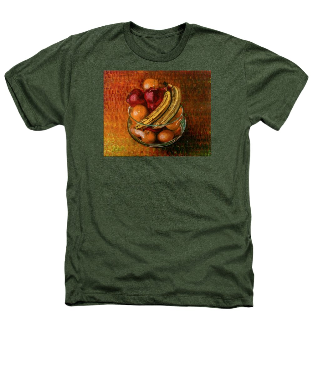 Still Life Heathers T-Shirt featuring the painting Glass Bowl Of Fruit by Sean Connolly