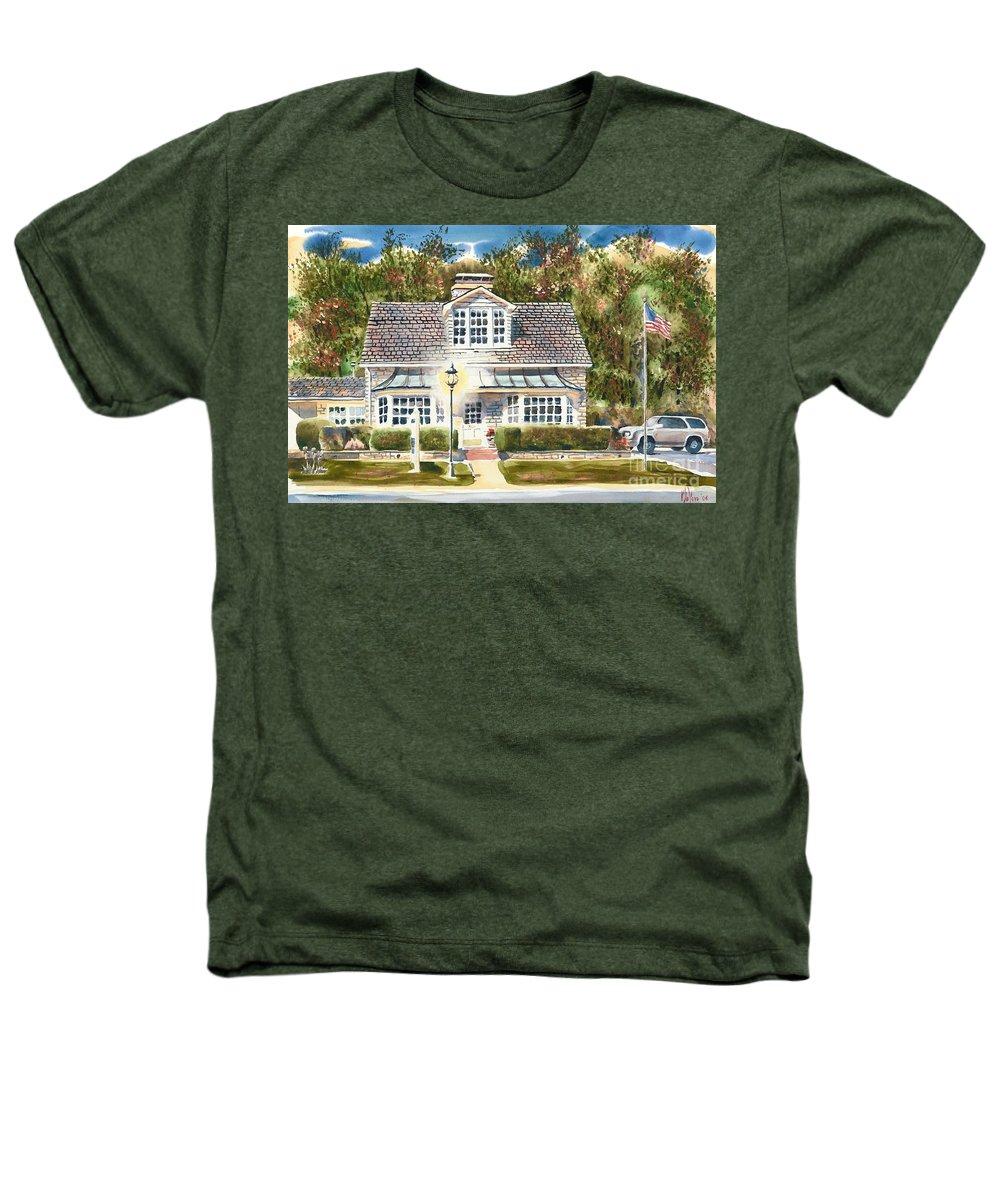 Greystone Inn Ii Heathers T-Shirt featuring the painting Greystone Inn II by Kip DeVore
