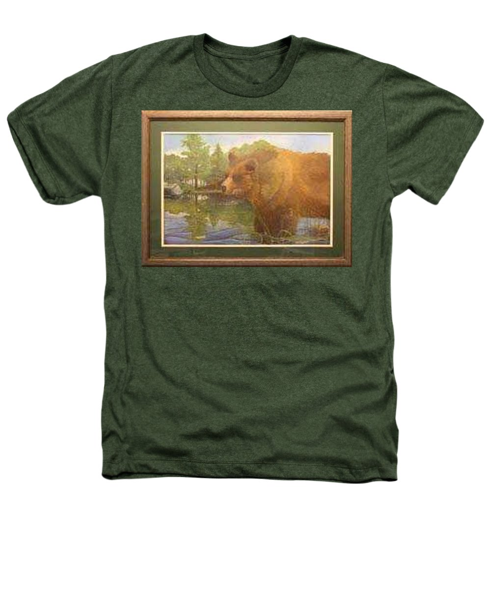 Rick Huotari Heathers T-Shirt featuring the painting Grizzly by Rick Huotari