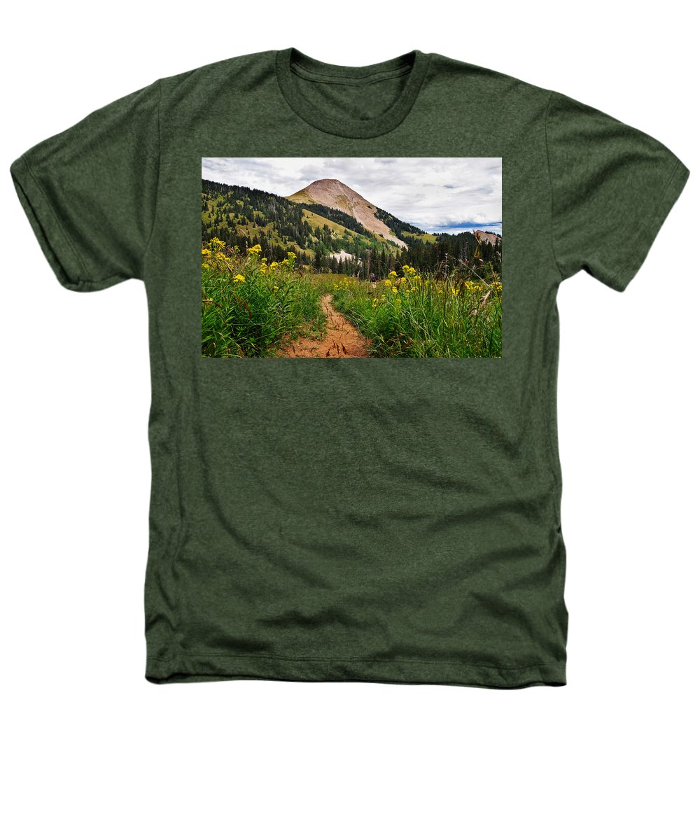 3scape Heathers T-Shirt featuring the photograph Hiking In La Sal by Adam Romanowicz