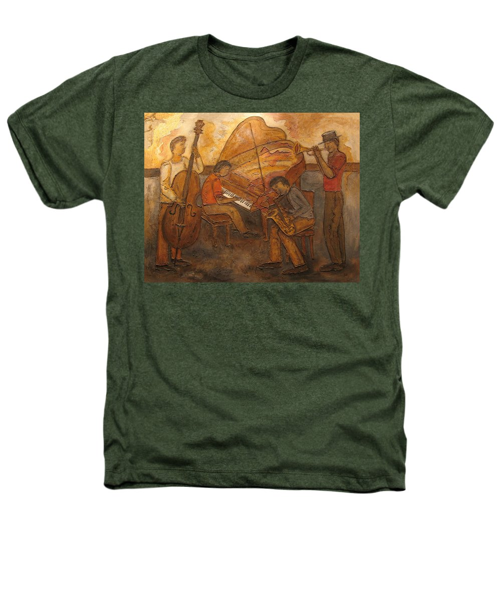 Impressionist Heathers T-Shirt featuring the painting Jazz Quartet by Anita Burgermeister