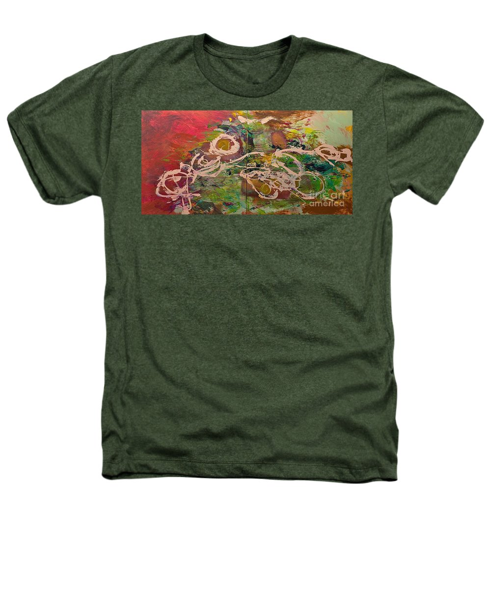 Landscape Heathers T-Shirt featuring the painting Journey Forth by Allan P Friedlander