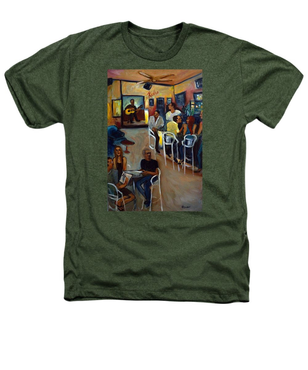 Art Bar Heathers T-Shirt featuring the painting Kevro's Art Bar by Valerie Vescovi