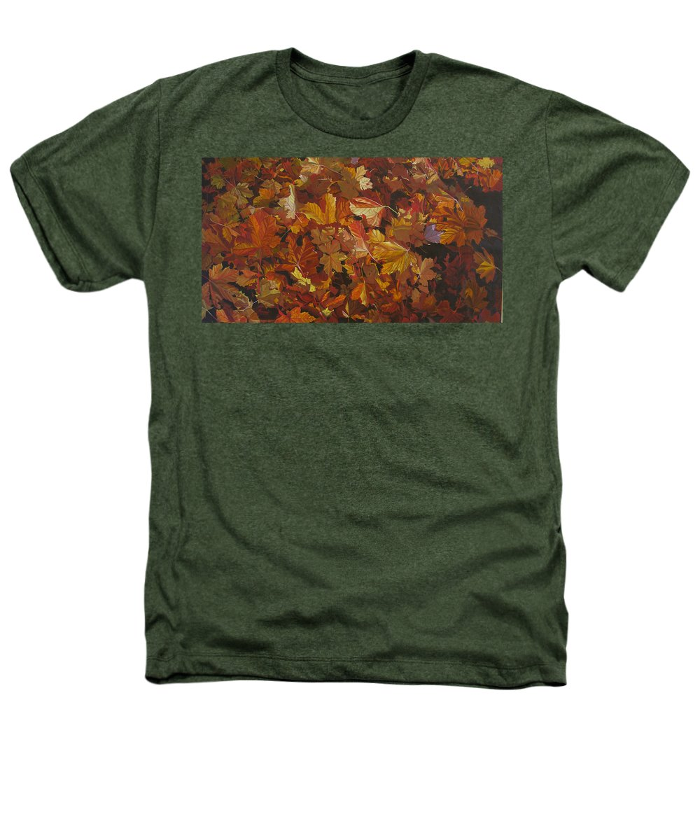 Fall Heathers T-Shirt featuring the painting Last Fall In Monroe by Thu Nguyen