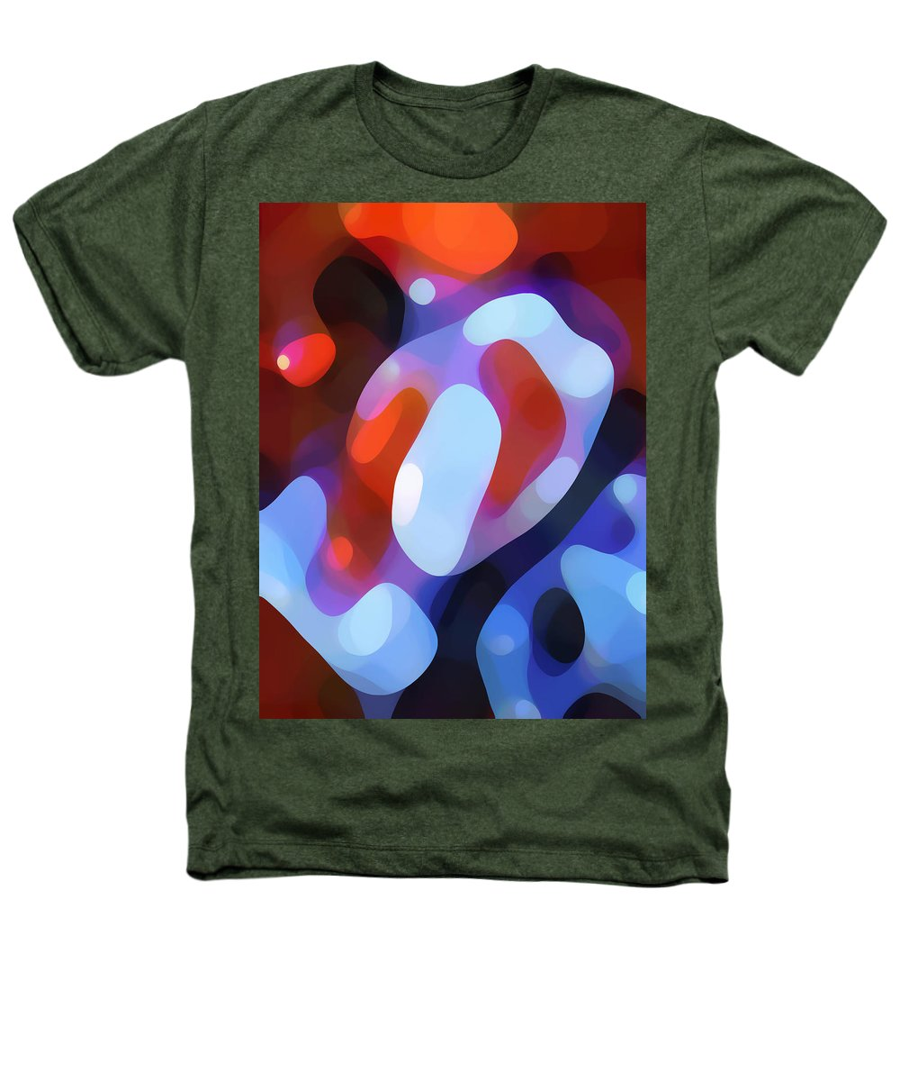 Abstract Heathers T-Shirt featuring the painting Light Through Fall Leaves by Amy Vangsgard
