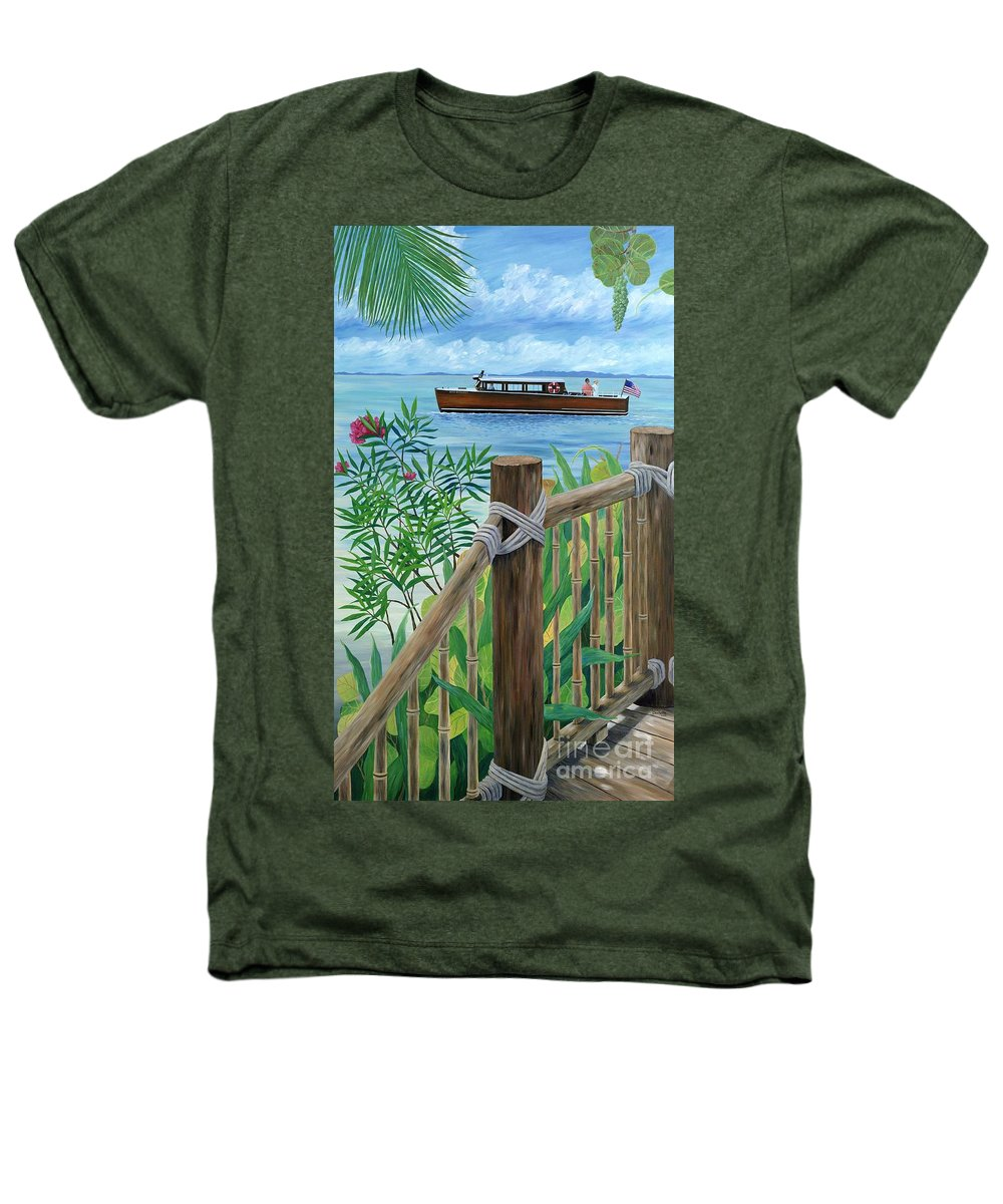 Island Heathers T-Shirt featuring the painting Little Palm Island by Danielle Perry