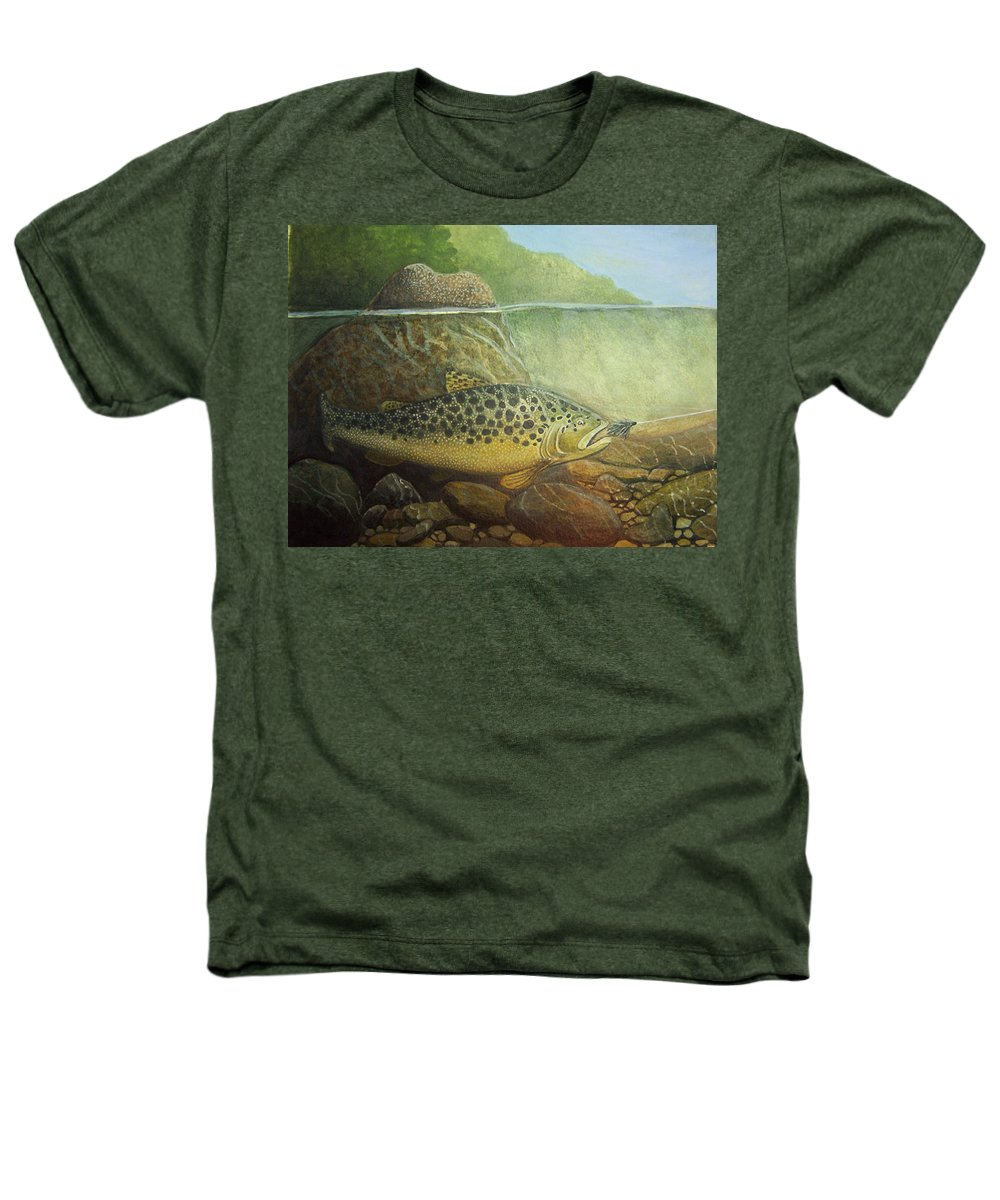 Rick Huotari Heathers T-Shirt featuring the painting Lurking by Rick Huotari